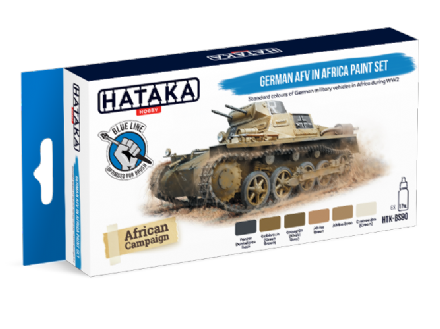 Hataka German AFV in Africa Paint Set (Acrylic for Brush Painting)